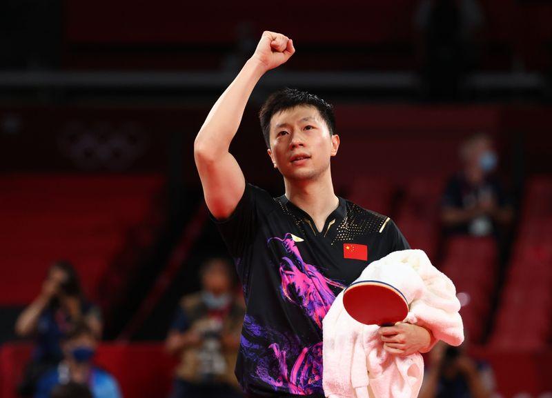 الصيني ما لونغ يحتفظ بلقبه الأولمبي في فردي الرجال