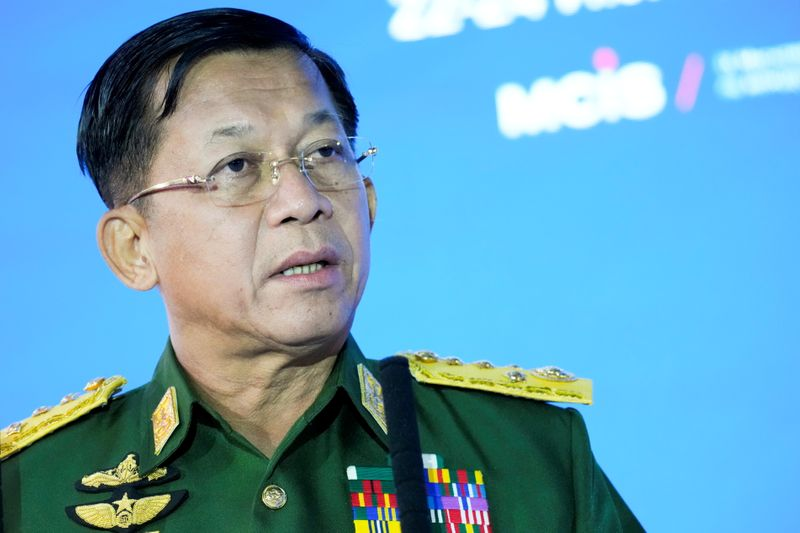 Myanmar army ruler pledges elections, ASEAN cooperation