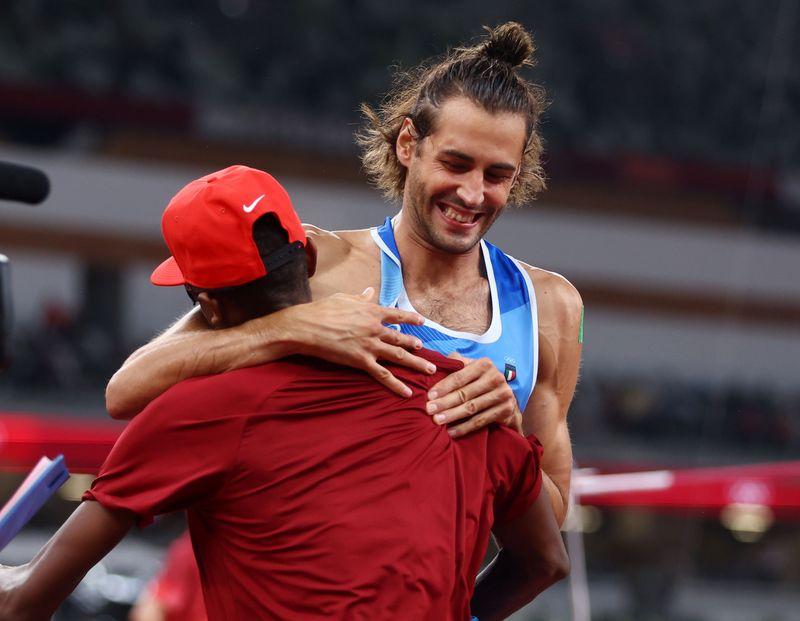 五輪=男子走り高跳び「2人に金を」、選手の提案認め同時優勝