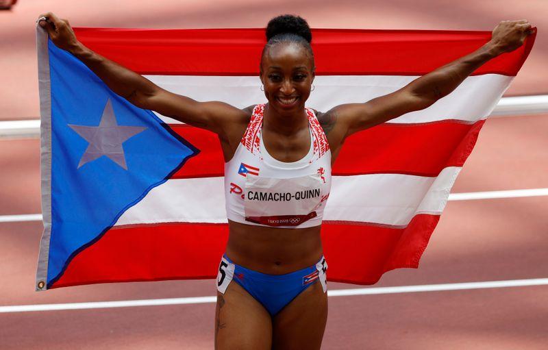 كماتشو-كوين عداءة بويرتوريكو تحصد ذهبية 100 متر حواجز