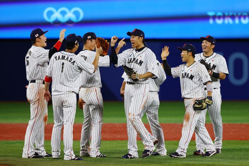 五輪=野球、日本が韓国下し金に王手 山田哲人「決勝でも貢献」