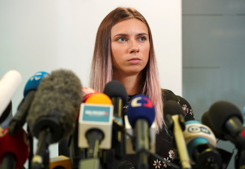 Olympics-Belarusian sprinter auctions medal to support athletes caught up in crackdown