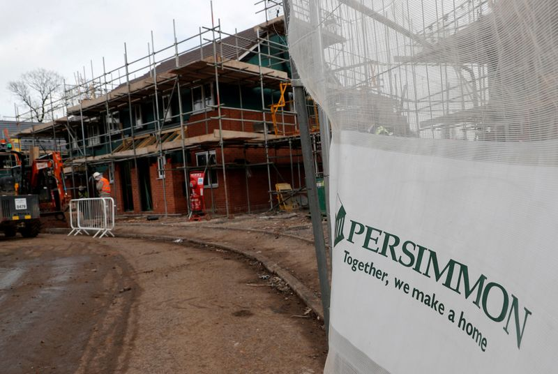UK's Persimmon's forward sales rise 9% from pre-pandemic levels