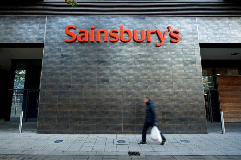 Shares in Sainsbury's jump to seven-year high on report of buyer interest By Reuters
