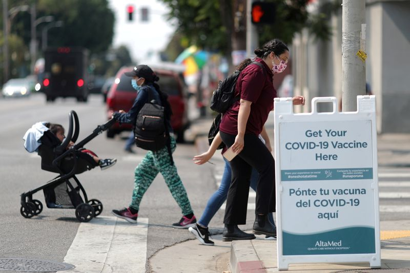 U.S. data show rising 'breakthrough' infections among fully vaccinated