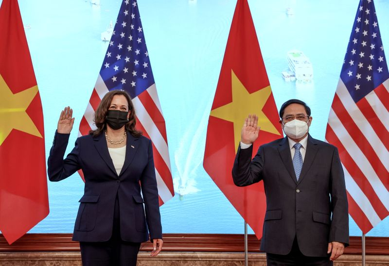 U.S. VP Harris offers Vietnam support to counter Beijing in the South China Sea