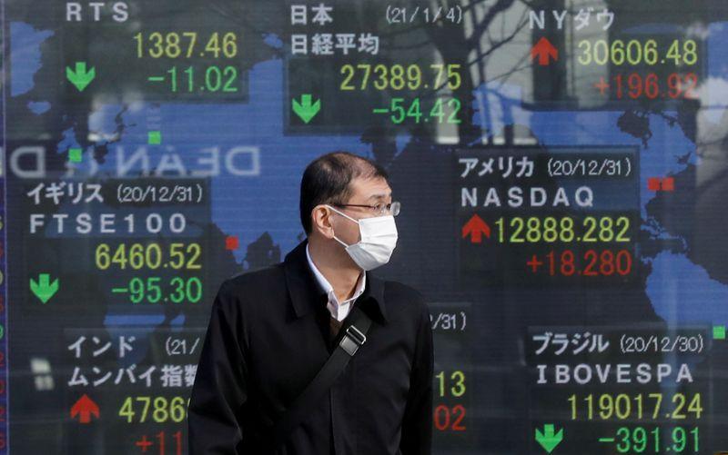 Индекс Nikkei закрылся снижением на фоне осторожности в преддверии выступления главы ФРС