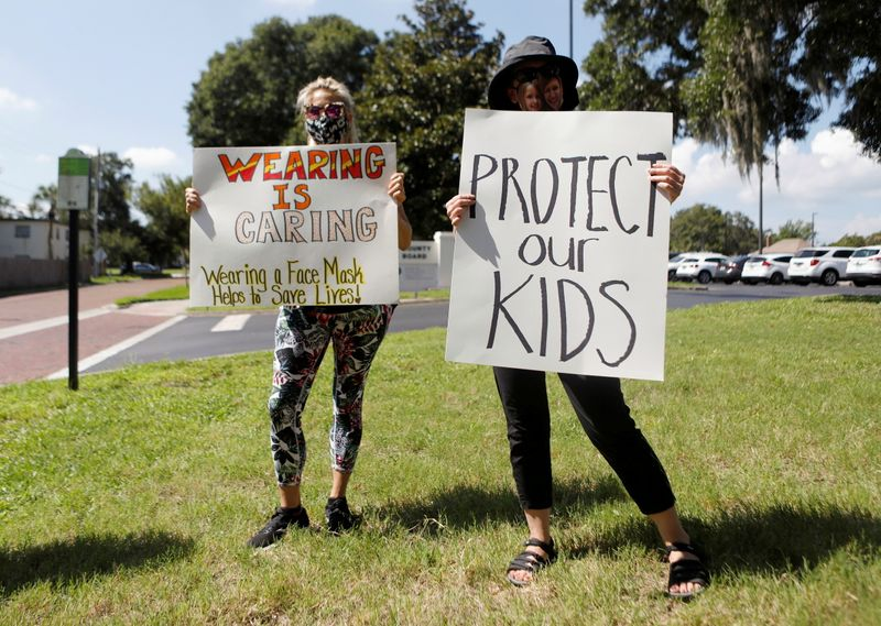 U.S. opens investigations into bans on school mask mandates in 5 states