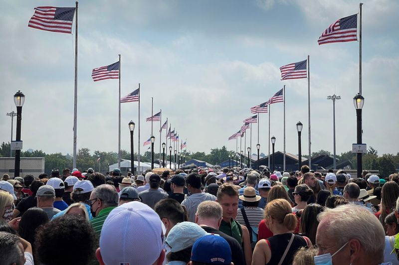 After year away, excited fans return to U.S. Open but confront long lines