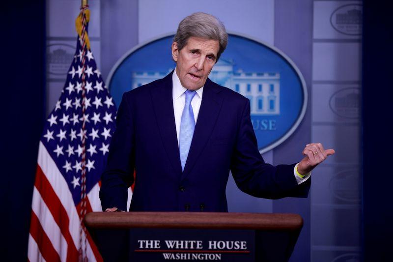U.S. climate envoy Kerry visits Japan, China for emissions talks