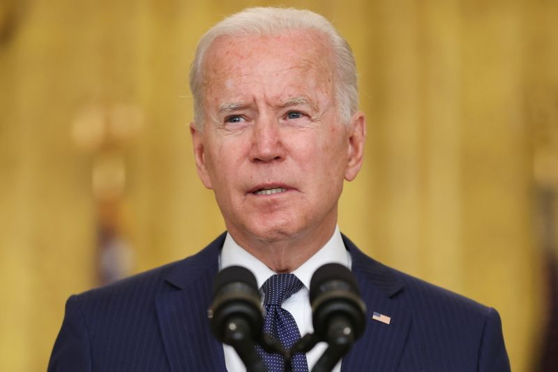Defiant Biden rejects criticism of Afghan exit, points to Afghan military and Trump