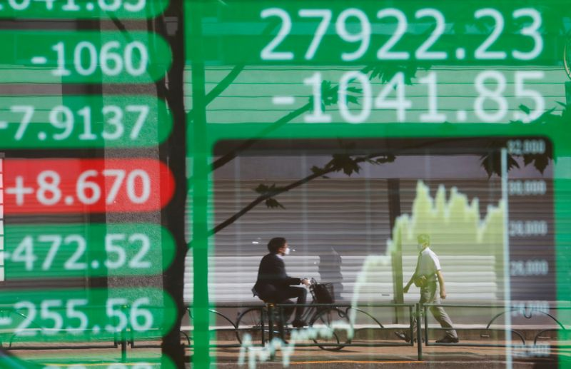 Asian shares down on slow-growth fear; dollar stays near three-week low By Reuters
