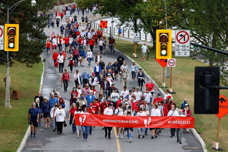 Rally marks 1,000 days since China detained two Canadians amid Huawei dispute