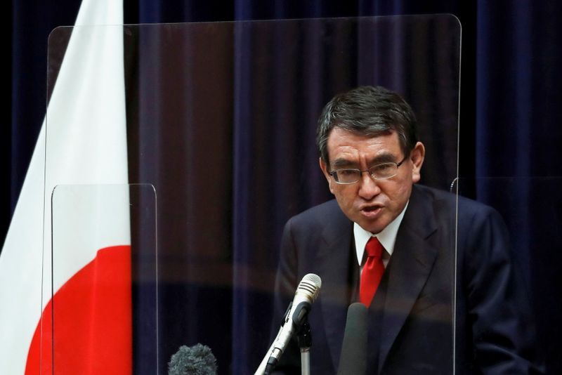 Japan's COVID minister Kono popular with voters for PM, may get heavyweight backing - media