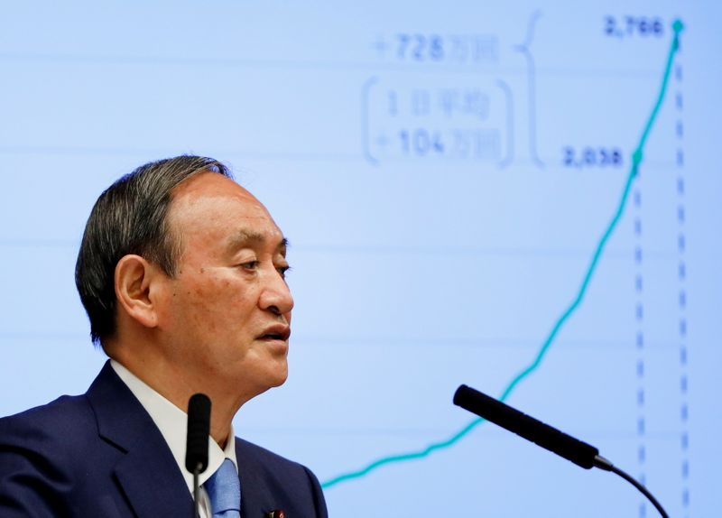 Japan's stock market emerges as clear winner of Suga's abrupt resignation