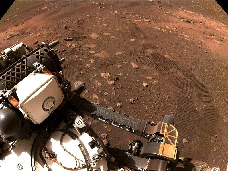 NASA rover Perseverance collects first Martian rock sample