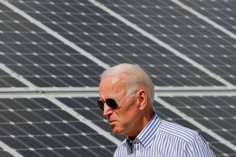 Biden administration to set goal of 45% solar energy by 2050 -NYT