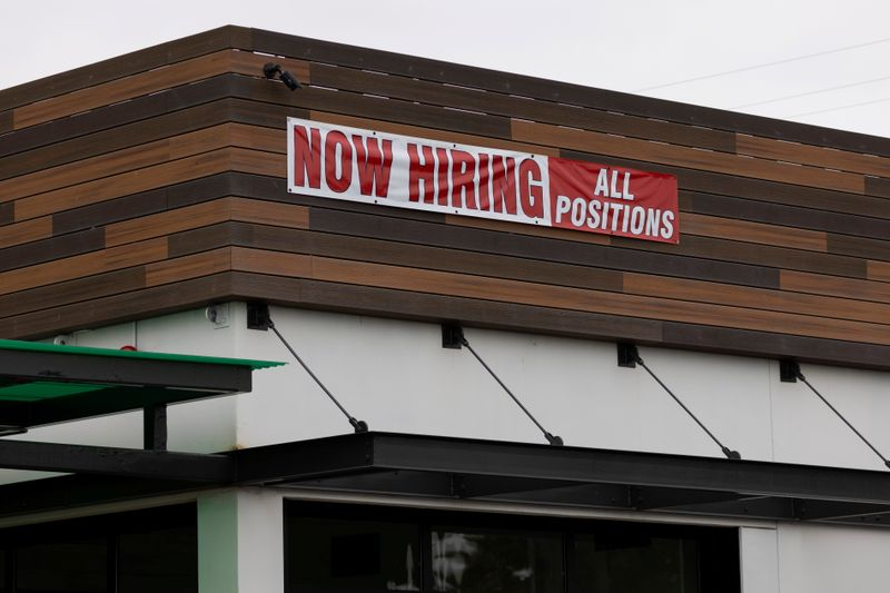 U.S. job openings rise to record 10.9 million in July