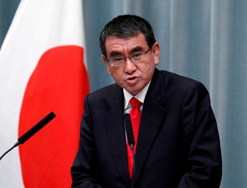 Japan's popular vaccine minister Kono enters race for next leader