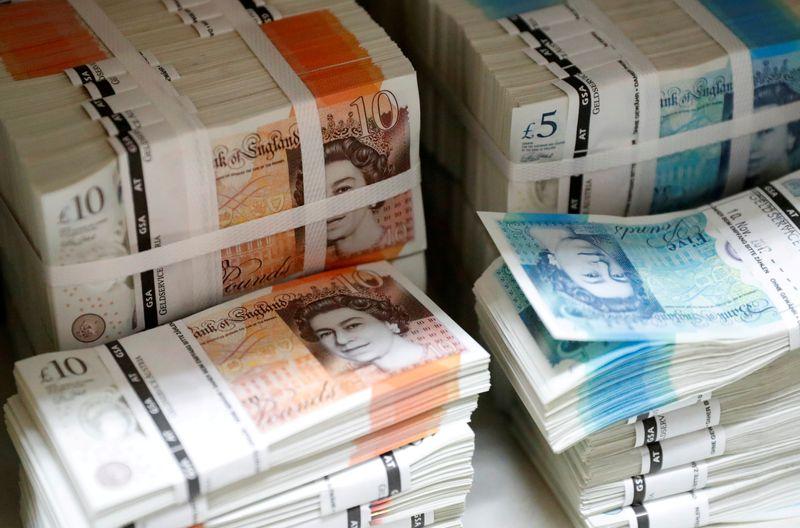 Pound cedes some early gain, weighs weak data vs hawkish BOE