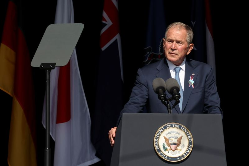 George W. Bush calls out threat of domestic terrorism on 9/11 anniversary