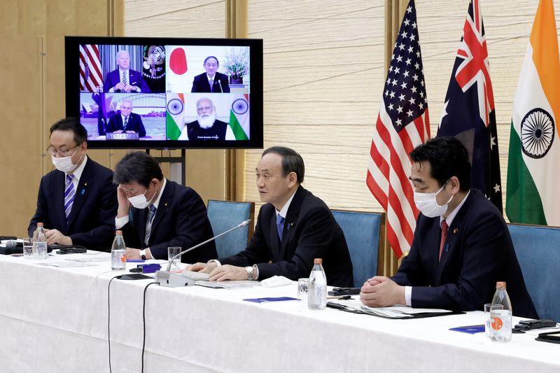菅首相、訪米し24日の日米豪印首脳会談に出席で調整=加藤官房長官