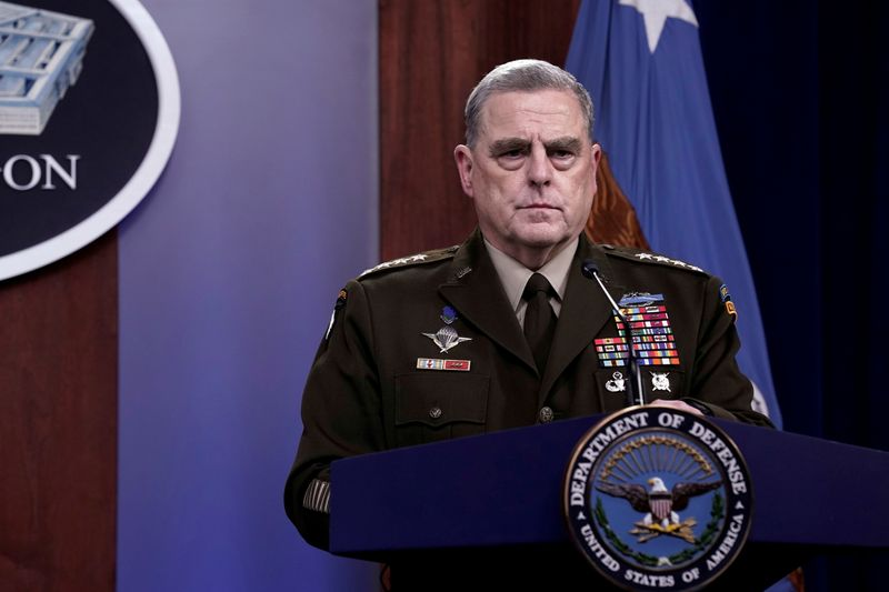 U.S. top general secretly called China over fears Trump could spark war -report