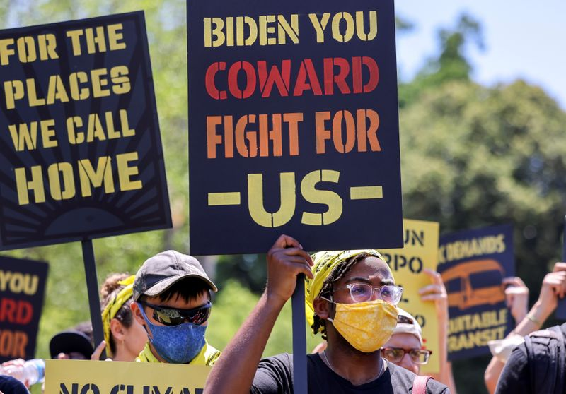 Analysis-Biden's lofty climate goals collide with political, economic reality