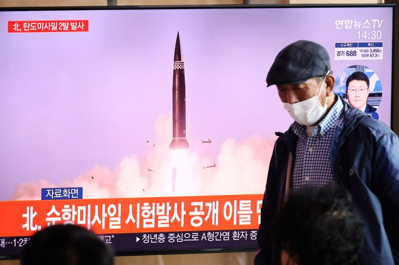 N.Korea launches were test of new railway-borne missile system -KCNA