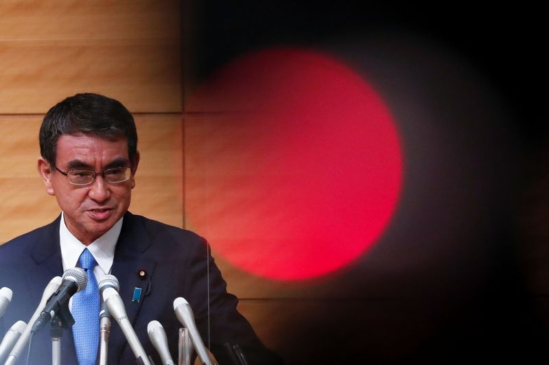 Japan PM contender Kono wants renewable energy, 5G to be focus of stimulus package