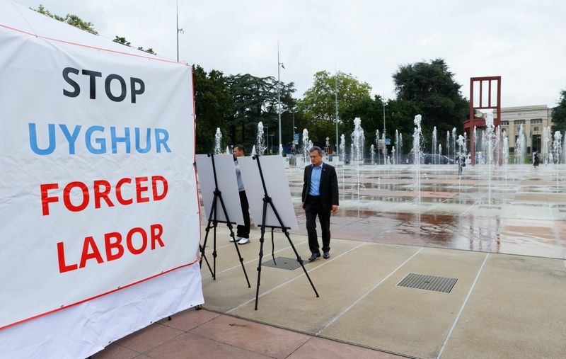 'Wall of the Disappeared': U.S.-backed Uyghur exhibit opens in Geneva