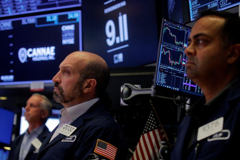 Уолл-стрит снижается, акции нефтяных компаний и техсектора перевешивают индексы розничной торговли