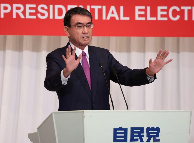 野田氏が一律給付金提言、河野氏「22兆円の需要不足埋める」=総裁選演説会