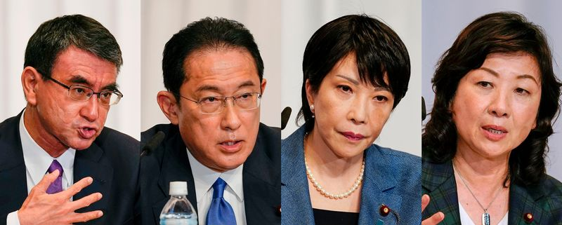 Japan PM candidates deny toning down views on hot-button issues to attract votes