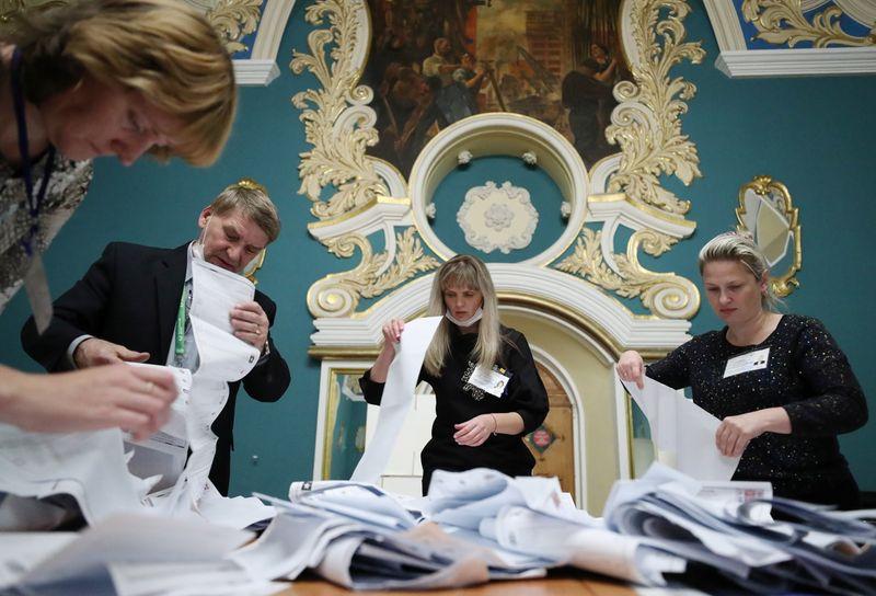 ロシア下院選、与党が勝利 議席3分の2以上確保