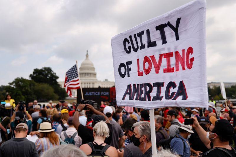 米首都のトランプ支持者集会、参加者数は予想大きく下回る