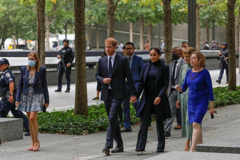 Prince Harry, Meghan Markle visit New York's World Trade Center