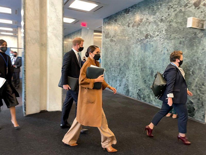 الأمير هاري وميجان يلتقيان مع نائبة الأمين العام للأمم المتحدة