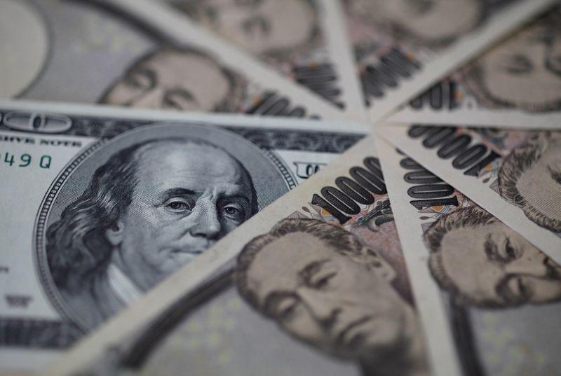 U.S. dollar gains, tracks rise in Treasury yields