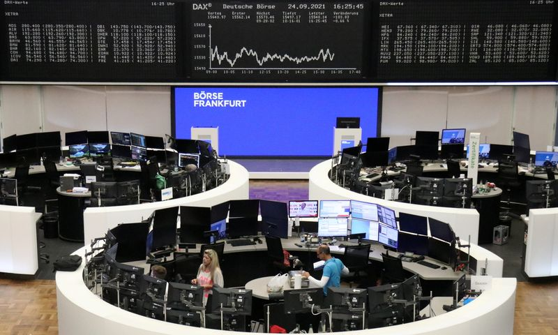 European shares end lower; German stocks rise on election relief