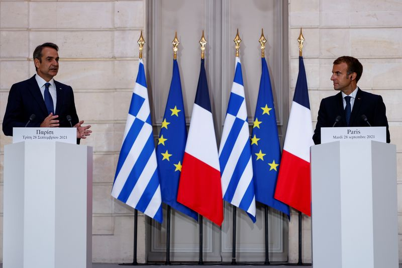 Macron tells Europe to 'stop being naive' after France signs defence deal with Greece