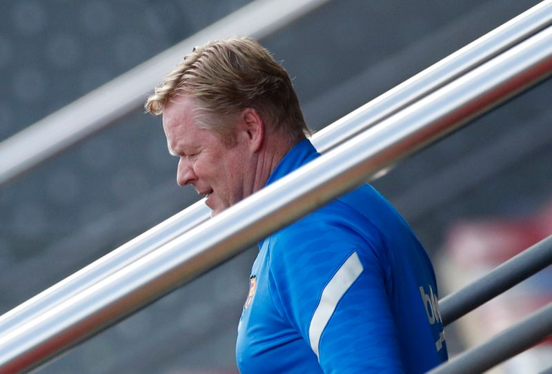 Koeman questiona direção do Barcelona ao sentir pressão aumentar
