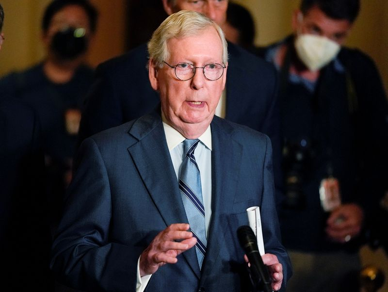 McConnell says Republicans will not again aid Democrats in raising debt limit By Reuters