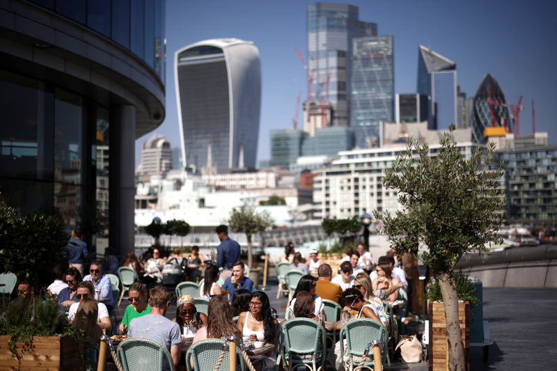 UK economy picks up in August, underpinning BoE rate hike bets