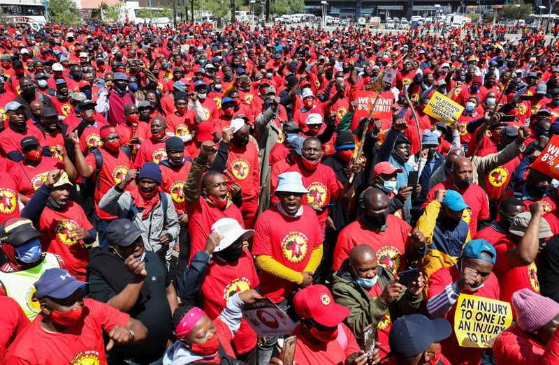 South African engineering union rejects new wage offer, strike continues