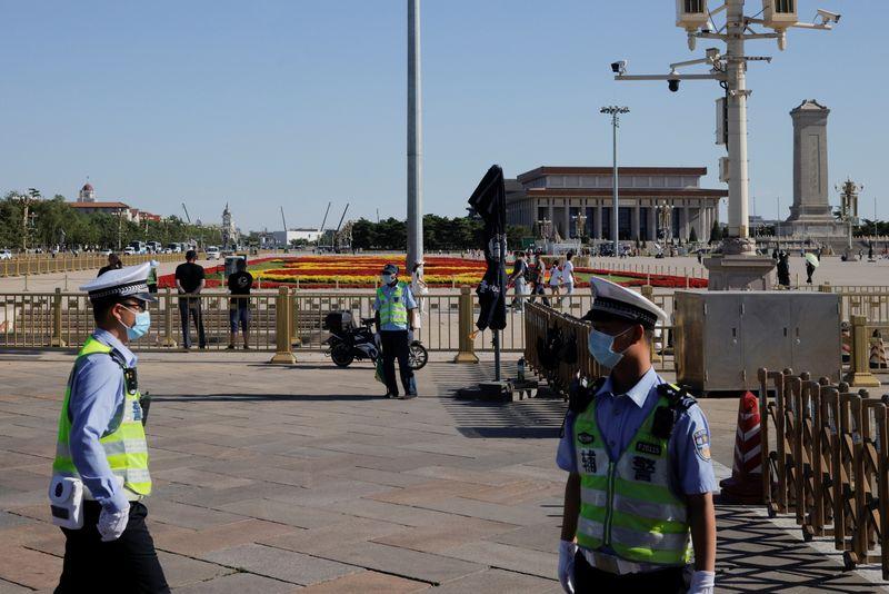 Hong Kong locks down Tiananmen vigil park amid tight security, arrests organiser