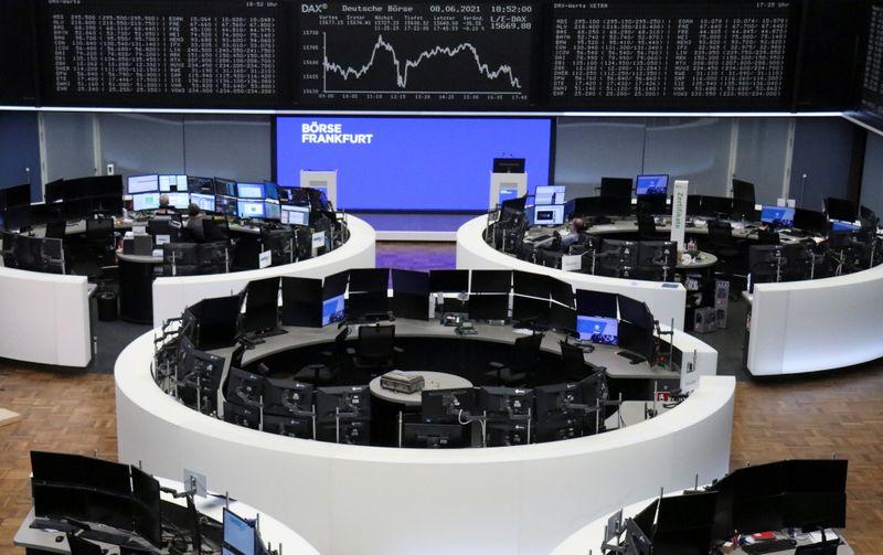 European shares loiter around peaks; travel stocks shine on recovery prospects