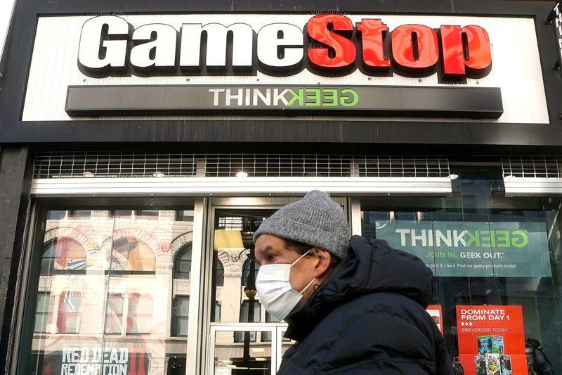 GameStop falls 27% on potential share sale, other 'meme stocks' falter