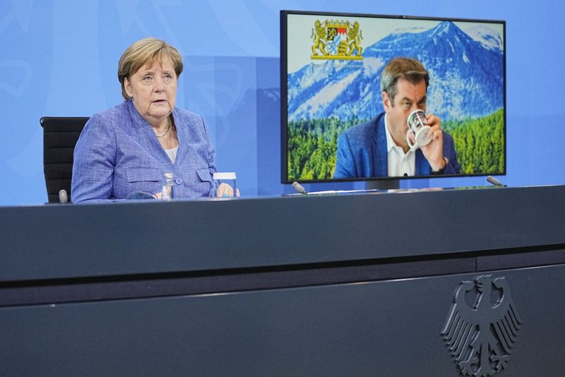 Merkel welcomes better COVID-19 situation but Delta variant a worry