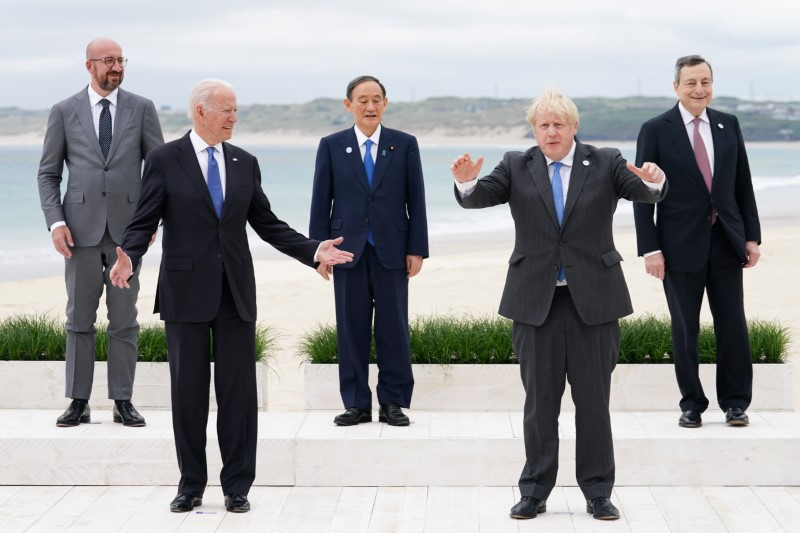 G7 has become a gigantic media circus, UK's Johnson says